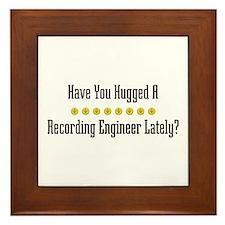 Hugged Recording Engineer Framed Tile