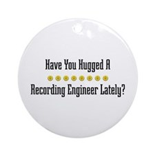 Hugged Recording Engineer Ornament (Round)