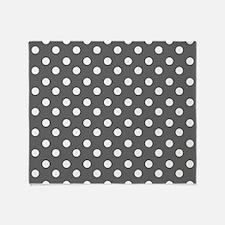 polka dots pattern Throw Blanket