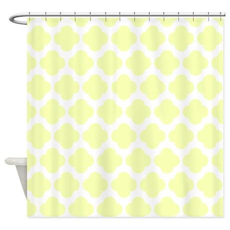 Light Yellow Quatrefoil Pattern Shower Curtain By RetroCulture