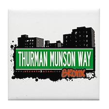 THURMAN MUNSON WAY, Bronx, NYC  Tile Coaster