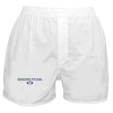 Horseshoe Pitching dad Boxer Shorts