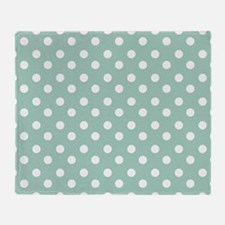 polka dots pattern Throw Blanket