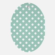 polka dots pattern Ornament (Oval)