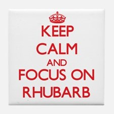 Cute Rhubarb Tile Coaster