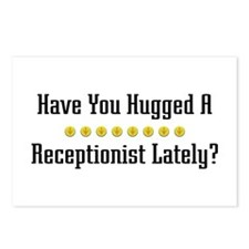 Hugged Receptionist Postcards (Package of 8)