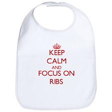 Cute I love bbq ribs Bib
