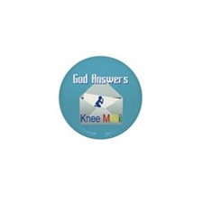 God Answers Knee Mail Mini Button (10 Pack)