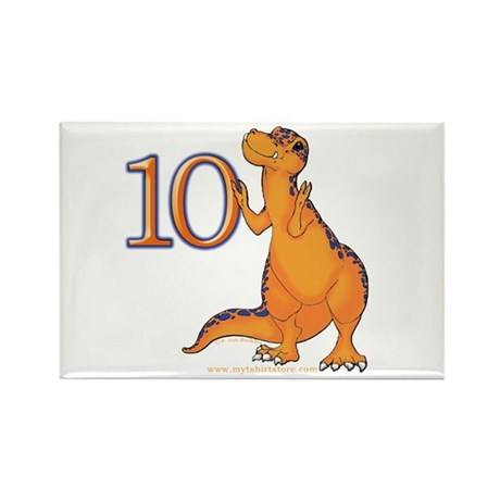 Kids Dino 10th Birthday Gifts Rectangle Magnet
