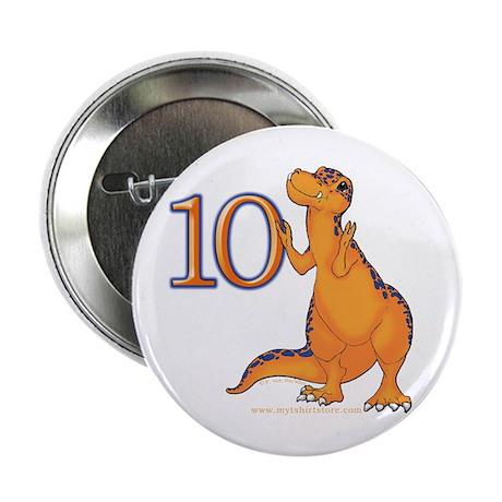 Kids Dino 10th Birthday Gifts Button