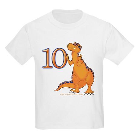 Kids Dino 10th Birthday Gifts Kids Light T-Shirt