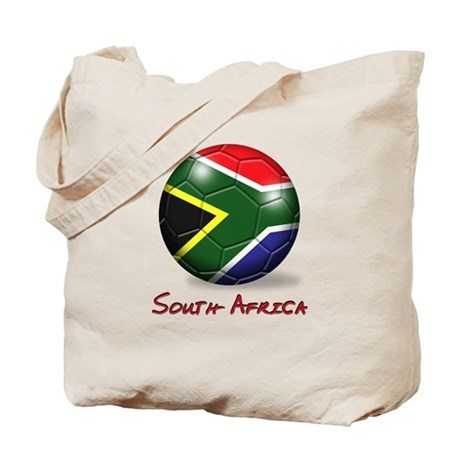 South Africa Flag Soccer Ball Tote Bag