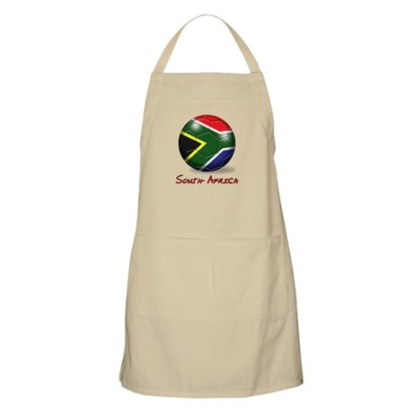 South Africa Flag Soccer Ball BBQ Apron