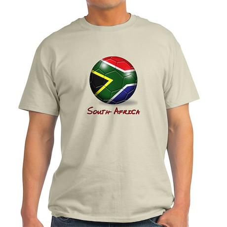 South Africa Flag Soccer Ball Light T-Shirt