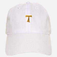 Golden Franciscan Tau Cross Baseball Baseball Cap