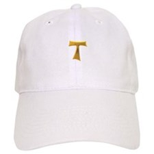 Golden Franciscan Tau Cross Baseball Cap