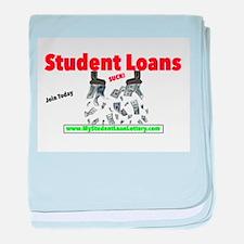 Student Loans Suck baby blanket