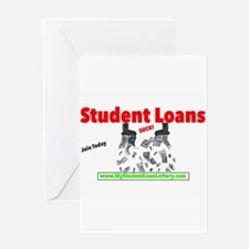Student Loans Suck Greeting Card