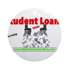 Student Loans Suck Ornament (Round)
