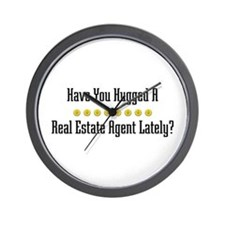 Hugged Real Estate Agent Wall Clock