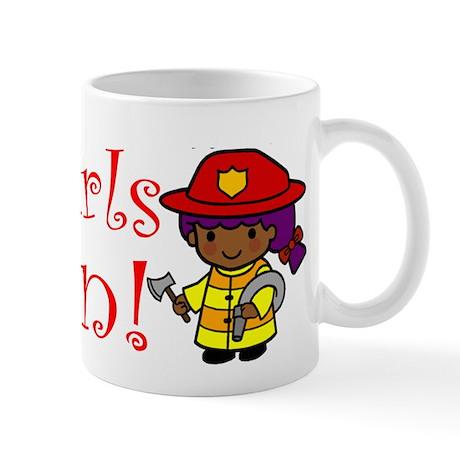 Girl Firefighter Mug