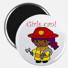 Girl Firefighter Magnet