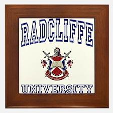 RADCLIFFE University Framed Tile