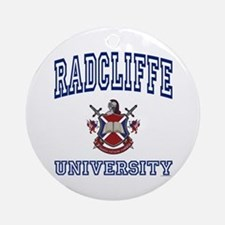 RADCLIFFE University Ornament (Round)