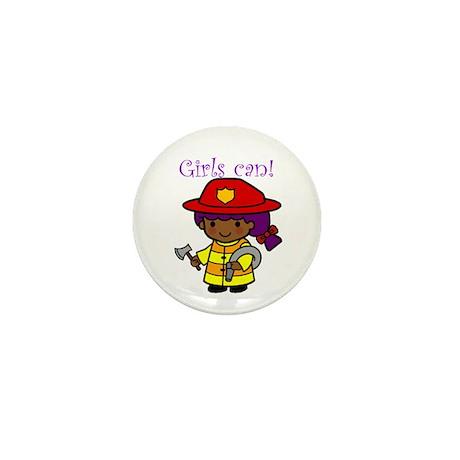 Girl Firefighter Mini Button (10 pack)