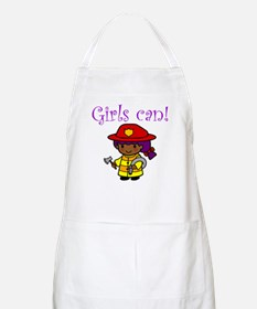 Girl Firefighter BBQ Apron