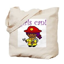 Girl Firefighter Tote Bag
