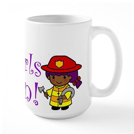 Girl Firefighter Large Mug