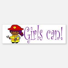 Girl Firefighter Bumper Bumper Bumper Sticker