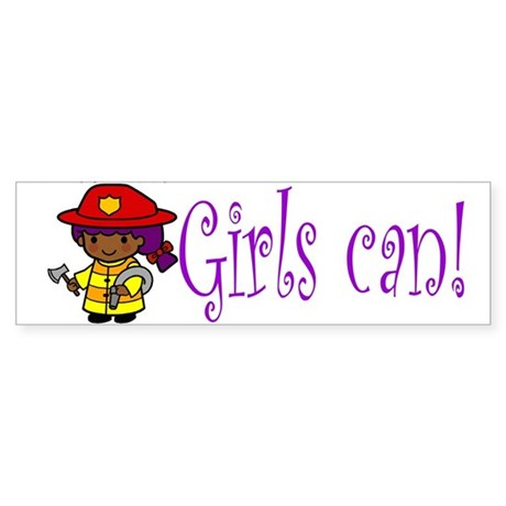 Girl Firefighter Bumper Sticker
