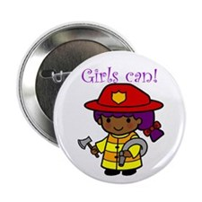 Girl Firefighter Button