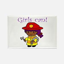 Girl Firefighter Rectangle Magnet