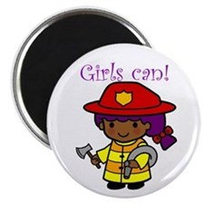 Girl Firefighter Magnet
