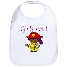Girl Firefighter Bib
