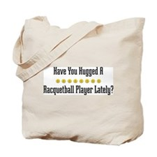 Hugged Racquetball Player Tote Bag