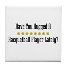 Hugged Racquetball Player Tile Coaster