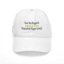 Hugged Racquetball Player Baseball Cap