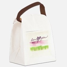 Love you pink Canvas Lunch Bag