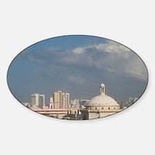 Old San Juan. View of San Juan from Sticker (Oval)