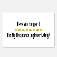 Hugged Quality Assurance Engineer Postcards (Packa