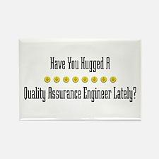 Hugged Quality Assurance Engineer Rectangle Magnet