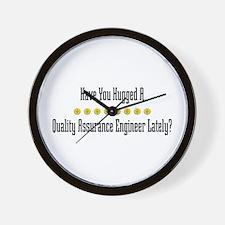 Hugged Quality Assurance Engineer Wall Clock