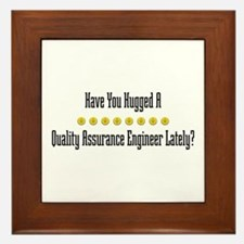 Hugged Quality Assurance Engineer Framed Tile