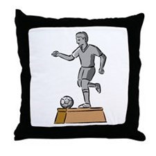Soccer Trophy Throw Pillow