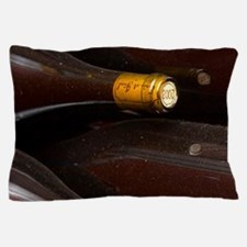 Bottles lying down with corks stamped  Pillow Case