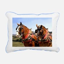 Belgian Horse Rectangular Canvas Pillow